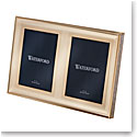 Waterford Lismore Diamond Gold 5x7 Double Invitation Frame