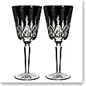 Waterford Lismore Black Goblet, Pair