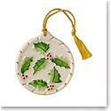 Belleek China Holly Flat Ornament