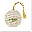 Belleek China Basket Bauble Ornament