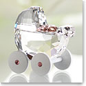 Swarovski Baby Carriage, Crystal and Light Rose