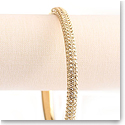 Swarovski Stone Mini Gold Bangle Bracelet