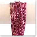 Swarovski Slake Wrap Bracelet, Fuchsia and Ruby