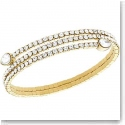 Swarovski Twisty Crystal Drop Pale Gold Bangle Bracelet