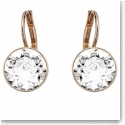 Swarovski Bella Mini Crystal and Rose Gold Pierced Earrings