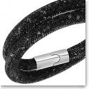 Swarovski Stardust Double Jet Hematite Black Bracelet