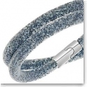 Swarovski Stardust Double Indian Sapphire and Dark Grey Bracelet