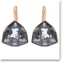 Swarovski Brief Sini Black and Rose Gold Pierced Earrings