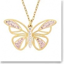 Swarovski Butterfly Gold Pendant Necklace