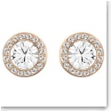 Swarovski Angelic Crystal and Rose Gold Pierced Earrings
