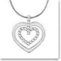 Swarovski Circle Heart Crystal and Rhodium Pendant Necklace