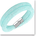 Swarovski Stardust Double Light Blue Azore and Palladium Bracelet