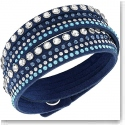 Swarovski Slake Wrap Bracelet, Rock Denim Blue