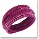 Swarovski Slake Wrap Bracelet, Deluxe Fuchsia