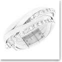 Swarovski Celeb White, Crystal, and Stainless Steel Leather Soft Bracelet