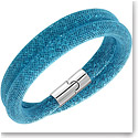 Swarovski Stardust Double Blue Indicolite and Palladium Bracelet