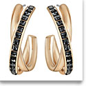 Swarovski Dynamic Sini Hoop Earrings, Rose Gold