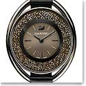 Swarovski Crystalline Oval Black Tone Watch