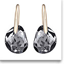 Swarovski Sini Galet and Rose Gold Pierced Earrings