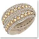 Swarovski Dot Slake Wrap Bracelet, Beige