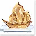 Swarovski Crystal, Asian Sailing Junk Boat, Golden Shine