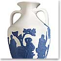 Wedgwood China and Bentley Blues Portland Saxon Blue on White Vase