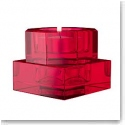 Orrefors Totem Serenity Votive Red, Pair