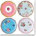 Royal Albert Candy Mini Plates, Mixed Patterns, Set of Four