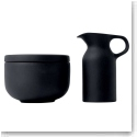 Royal Doulton Olio Black Sugar and Cream Set