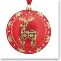 Waterford Holiday Heriloom Nostalgic Collection Red Reindeer Medallion Ornament
