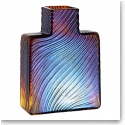 "Kosta Boda Because Brown Stripes 4"" Vase"