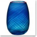 """Kosta Boda Red Rim 9 3/4"""" Vase"""