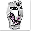 Kosta Boda Open Minds Vase, Clear and Pink