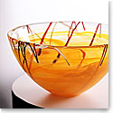 Kosta Boda Contrast Large Bowl, Orange, 13 3/4in