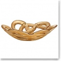 Kosta Boda Basket Small Bowl, Gold
