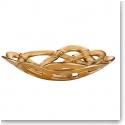 Kosta Boda Basket Large Bowl, Gold