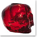 Kosta Boda Still Life Skull Crystal Votive, Red