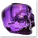 Kosta Boda Still Life Skull Votive, Purple