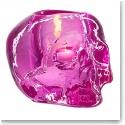 Kosta Boda Still Life Skull Votive, Pink