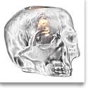Kosta Boda Still Life Skull Votive, Silver