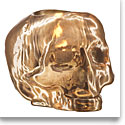 Kosta Boda Still Life Skull Votive, Copper