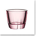 Kosta Boda Bruk Crystal Votive Light Pink Anything Crystal Bowl, Pair