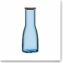 Kosta Boda Bruk Carafe with Oak Lid, Water Blue