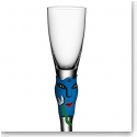 Kosta Boda Open Minds Crystal Shot Glass, Blue, Single