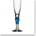 Kosta Boda Open Minds Blue Champagne, Single