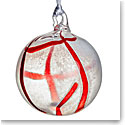 Kosta Boda Contrast Ornament, White and Red
