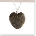 Cashs Sterling Silver and Connemara Marble Heart Pendant Necklace