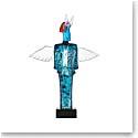 Kosta Boda Art Glass, Kjell Engman Blue Check Man, Limited Edition of 100