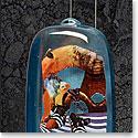 Kosta Boda Art Glass, Kjell Engman Blue Cabin Bag, Limited Edition of 60