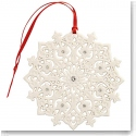 Belleek Living Lace Snowflake Ornament